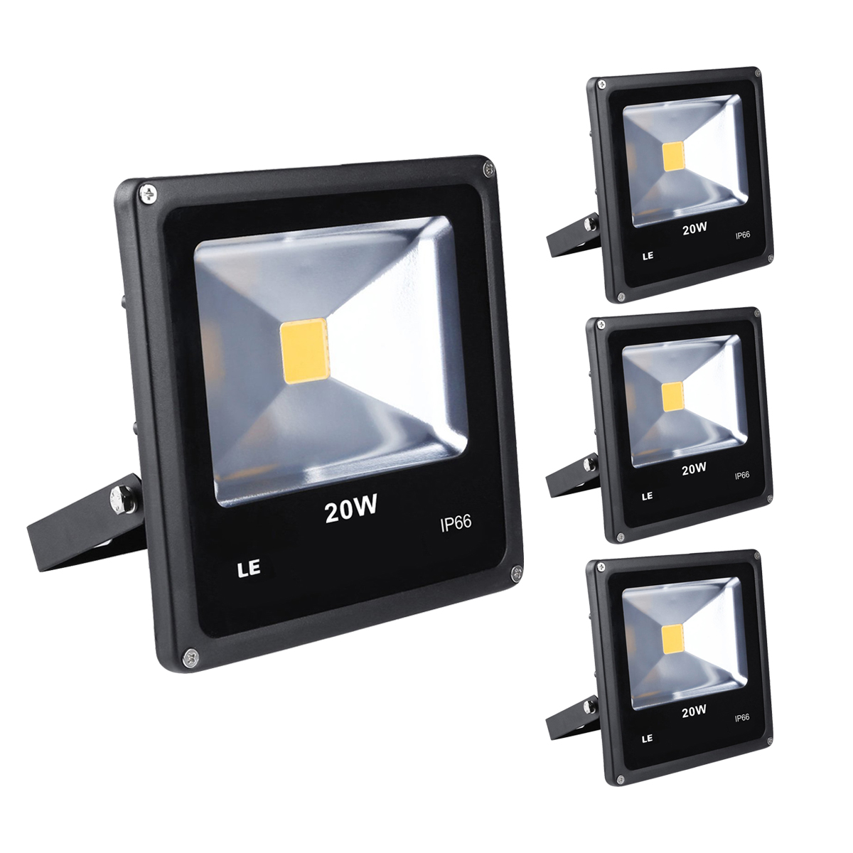 Lighting Ever Top Quality Led Fixtures Waterproof 20w Outdoor Led Flood Light Daylight White