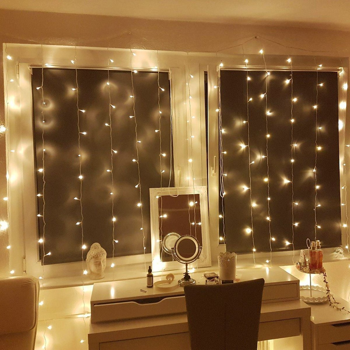 Lighting Ever Top Quality Led Fixtures Warm White String Curtain Light 300 Led For Indoor
