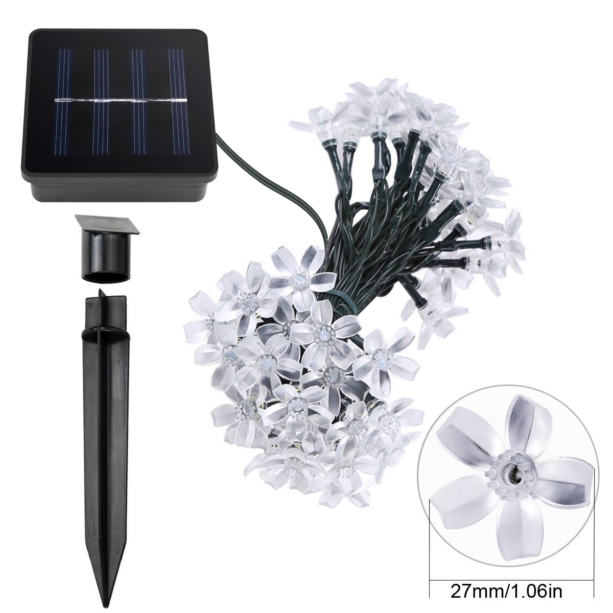 Lighting Ever Top Quality Led Fixtures Solar Fairy Lights 50 Christmas Leds String Lights