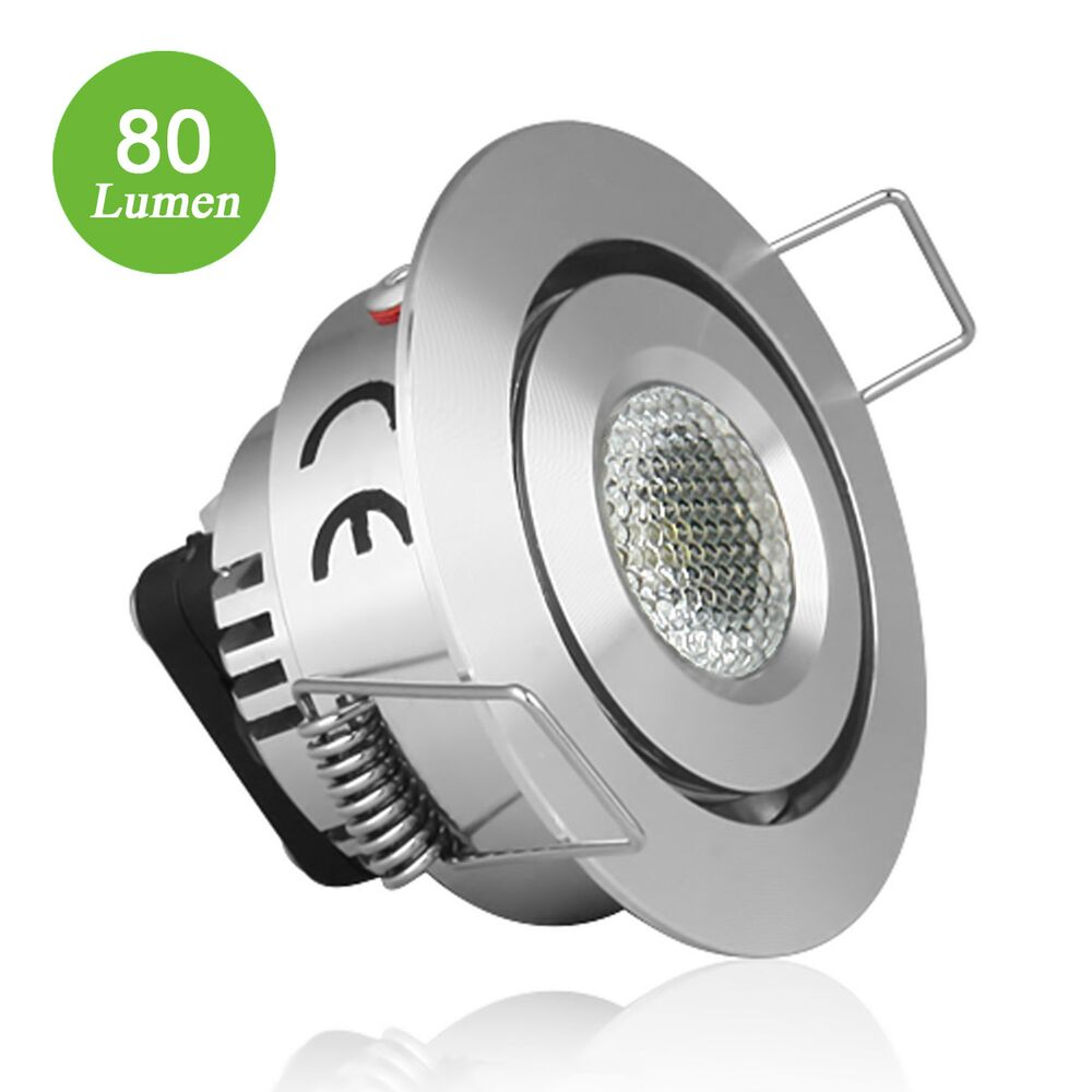 Led Spots Küchenschrank 1w Led Einbauspots 80lm Led Downlight Warmweiß Le