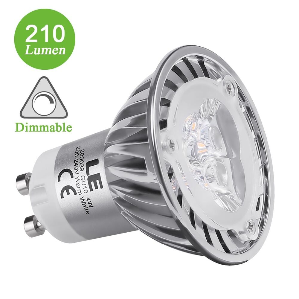 Led Spots Dimmbar Dimmbar 4w Gu10 Fassung Led Spots Mr16 210lm Warmweiß Le