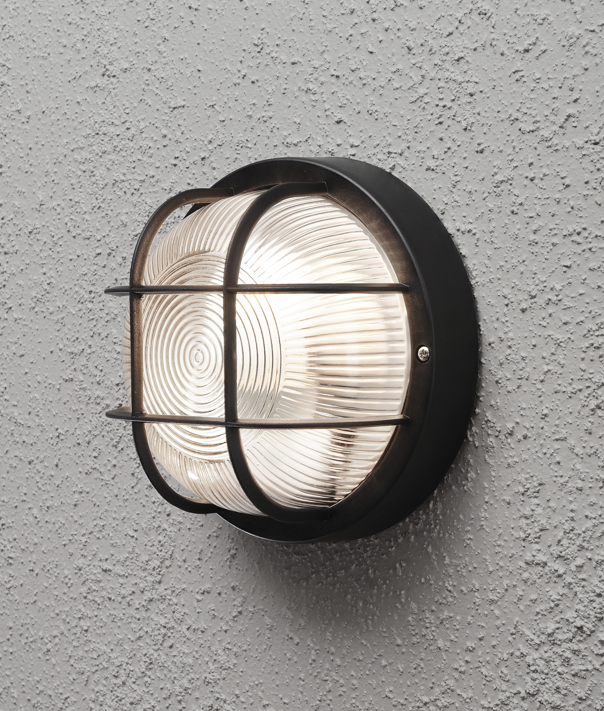 External Light Fittings Caged Bulkhead Exterior Wall Light Ip44 Rated