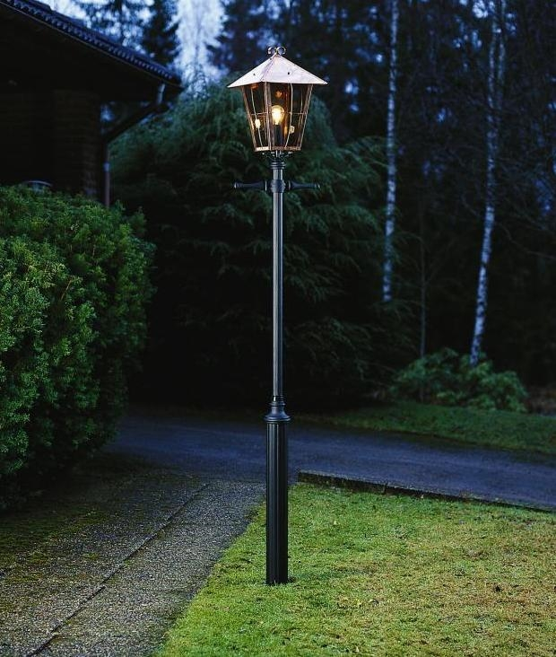 Low Voltage Lighting Outdoor Copper & Glass Exterior Lamp Post Ip23 Rated