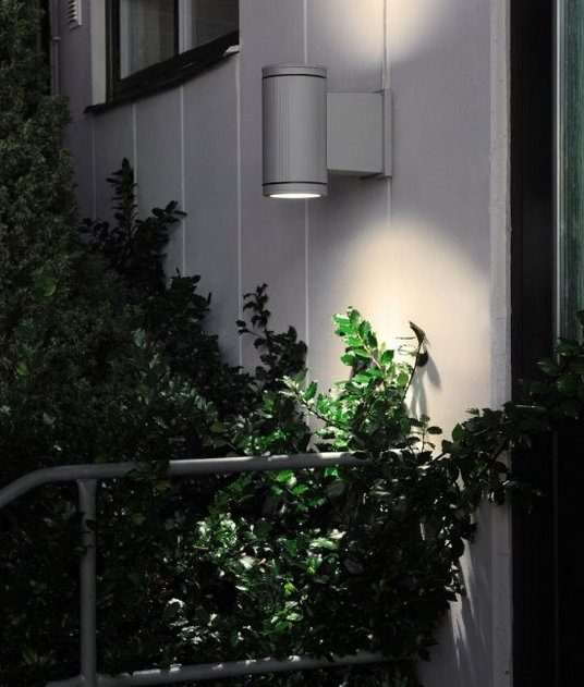 Exterior Led Commercial Lighting Hit Cylinder G12 Commercial Up Down Wall Light