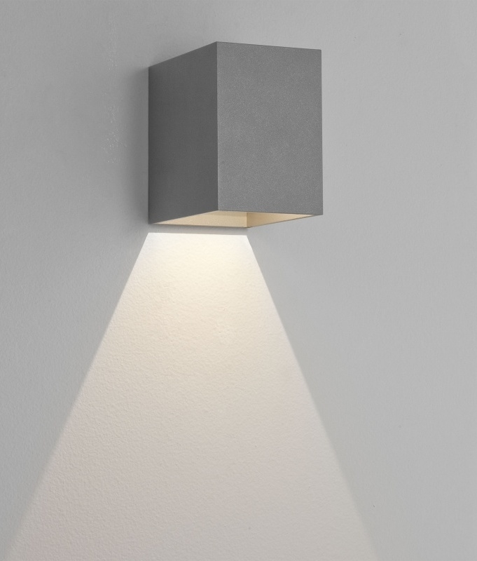 Eclairage Exterieur Up Down Cube Wall Fixed Downlight With Led Lamp In 3 Finishes