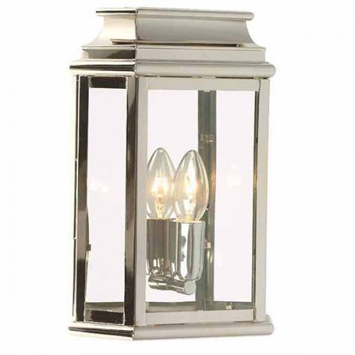 E27 Led 100w Monument Wall Lantern Polished Nickel | Light Innovation
