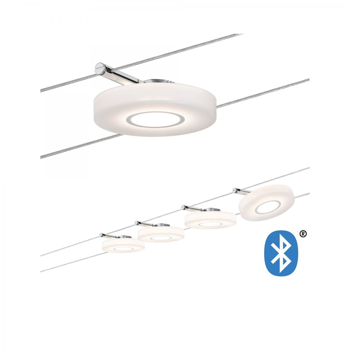 Paulmann No 50109 Smart Home Seilsystem Discled I Satin 4x4w Dimmbar Lampen Leuchten Günstig Kaufen Led Top B