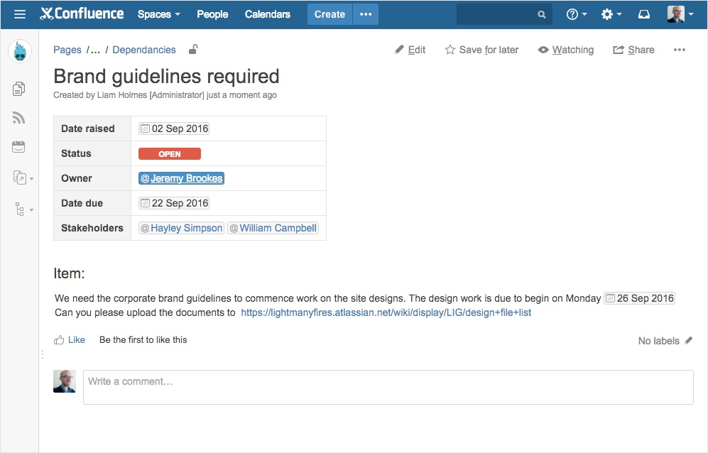 Learn how to create your own Confluence blueprints