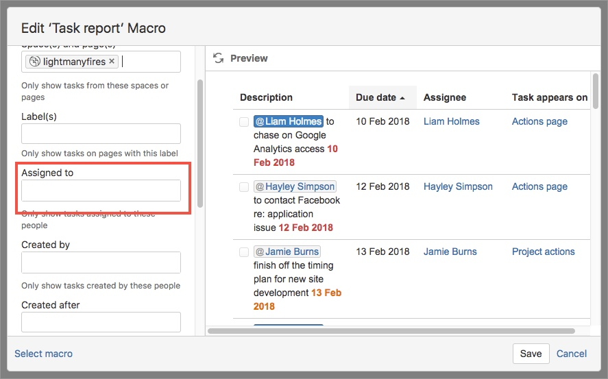 How to create a kick ass team task report page in Confluence