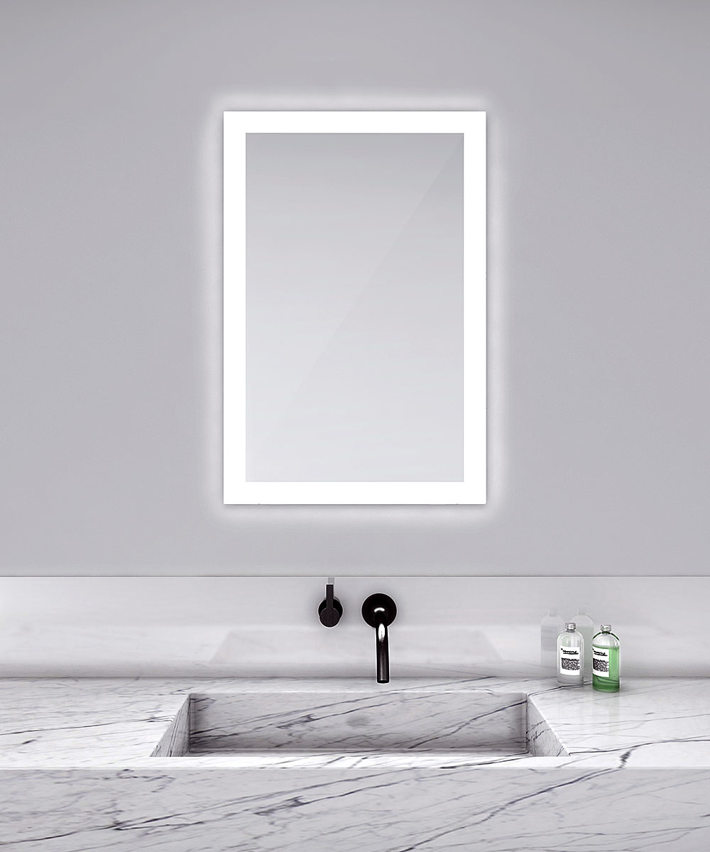Light Bathroom Mirror Silhouette Rectangle Lighted Mirror By Electric Mirror Sil 2436