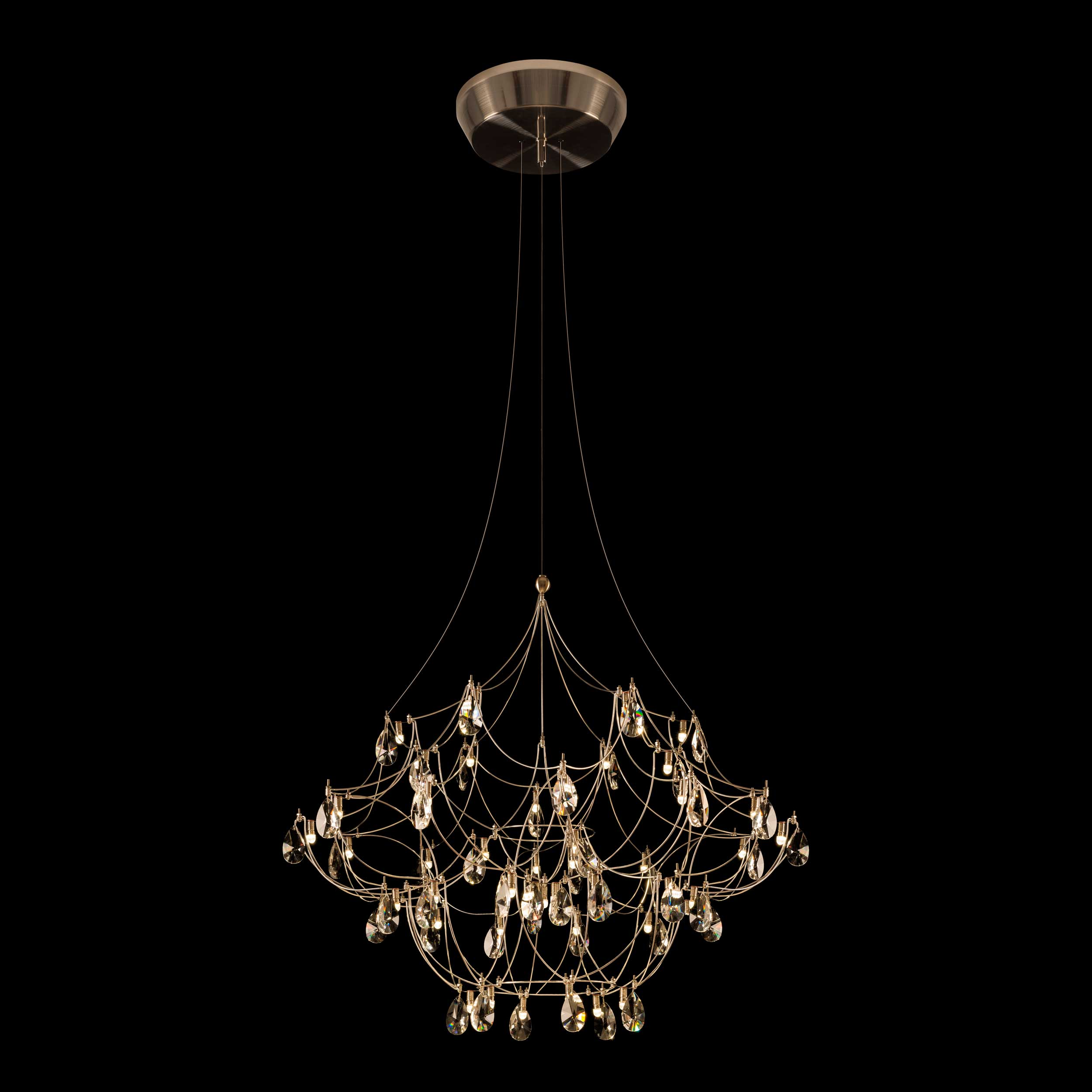 Galaxy Lighting Crystal Galaxy Chandelier By Pureedge Lighting Cryga24 12 L1 Sn