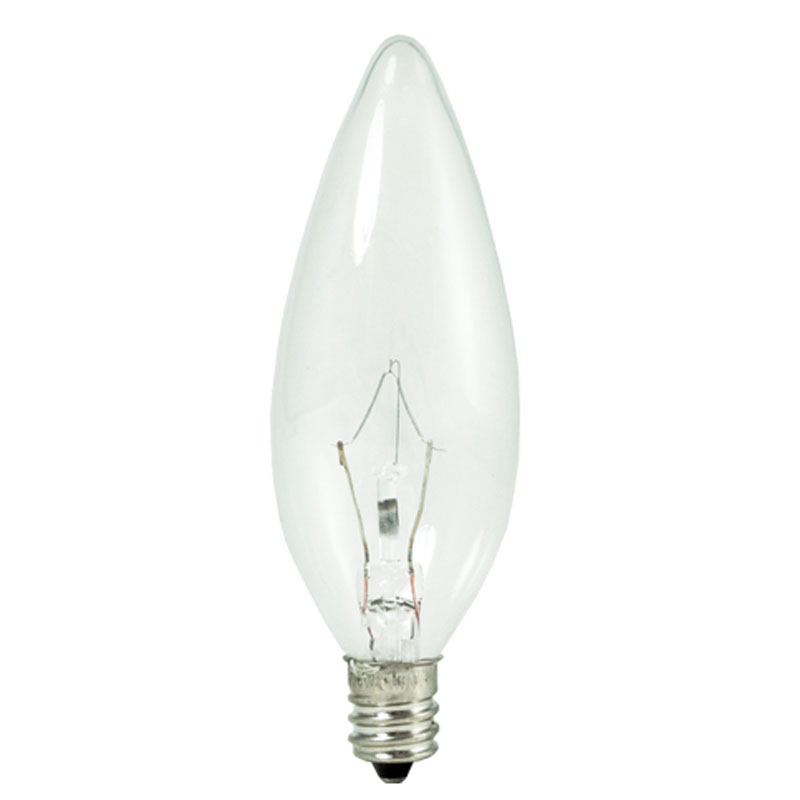 60w Light Bulb B10 Krystal Touch Candelabra Base 60w 120v By Bulbrite 460060