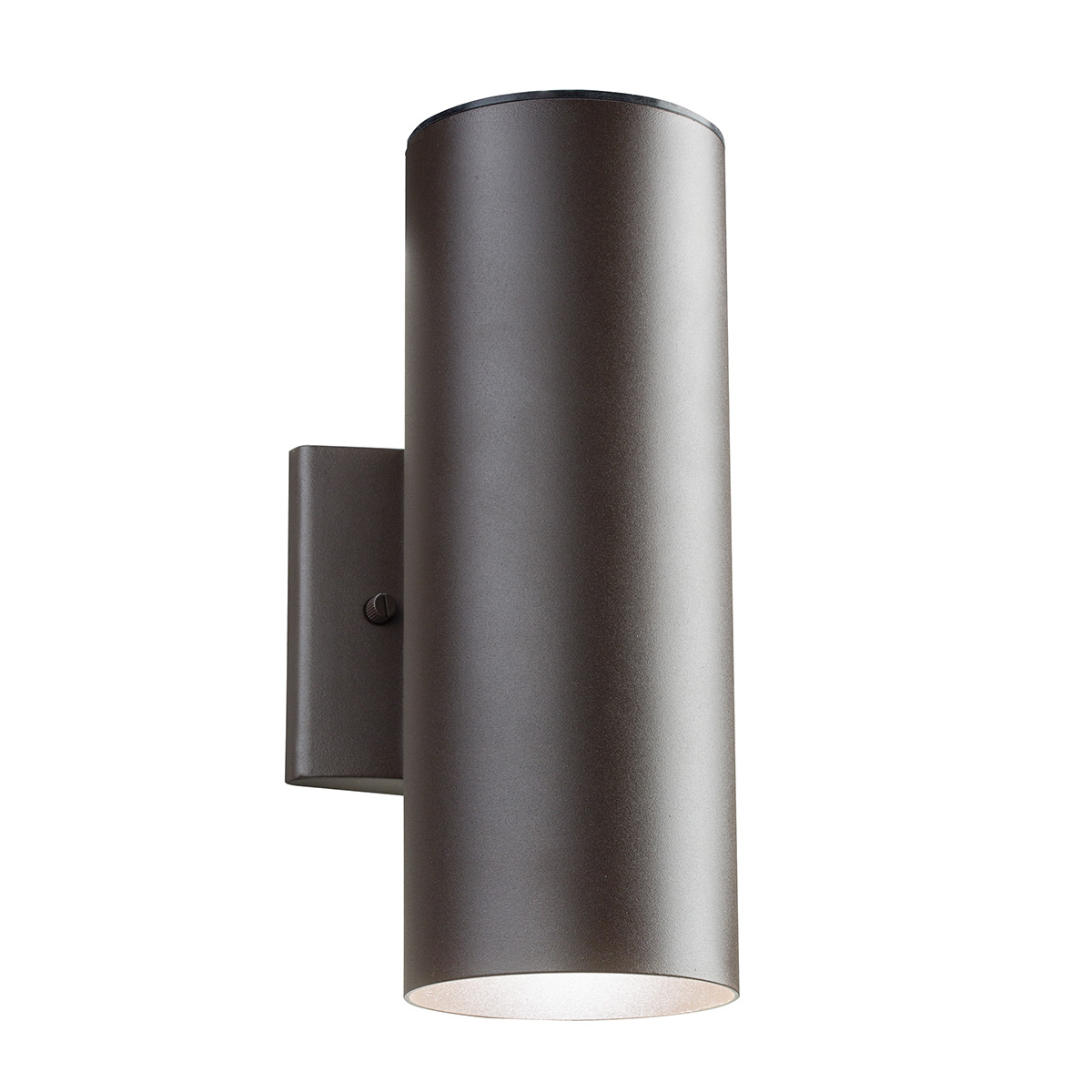 Exterior Led Light Fixtures Cylinder Led Up Downlight Wall Sconce By Kichler 11251azt30