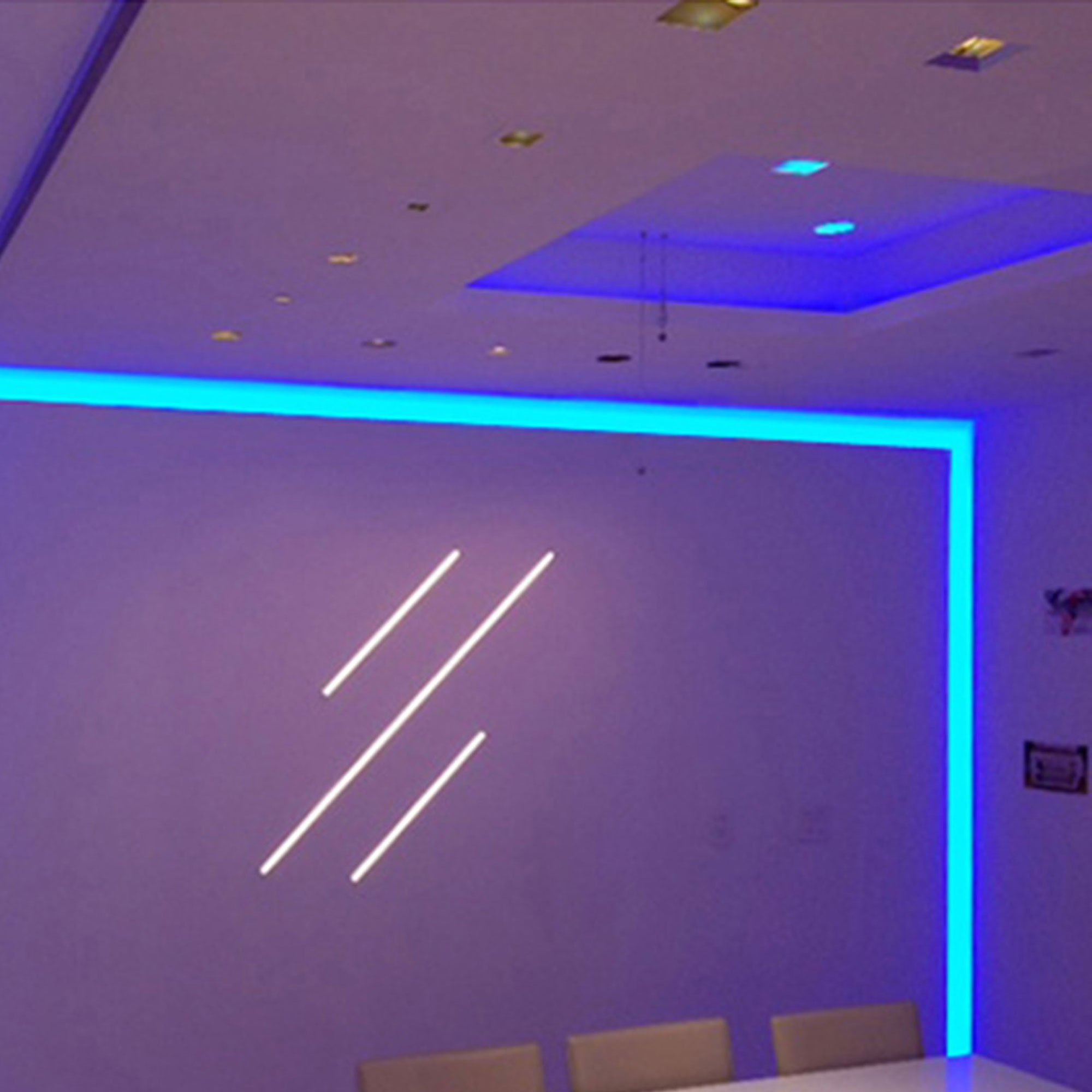 Lighting Rgb Verge Wall 6w Rgb White Plaster In System By Pureedge Lighting Vg 6wdc 5ft Rgbw