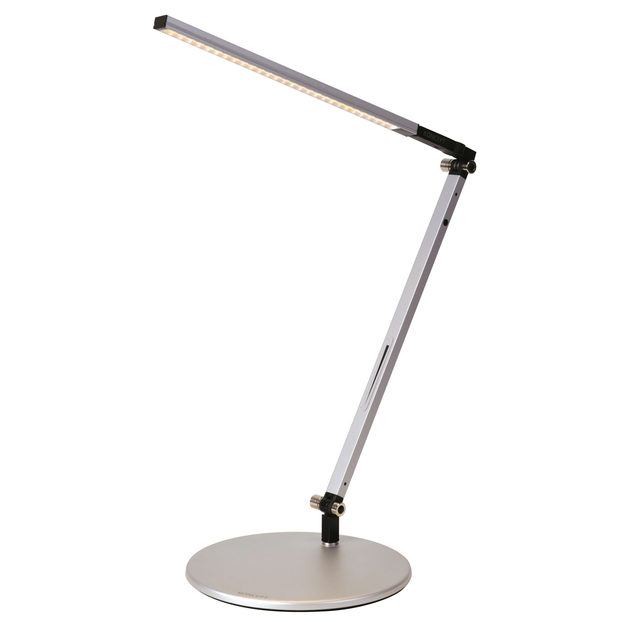 Desk Lamp Z Bar Solo Mini Led Desk Lamp By Koncept Lighting Ar1100 Wd Sil Dsk