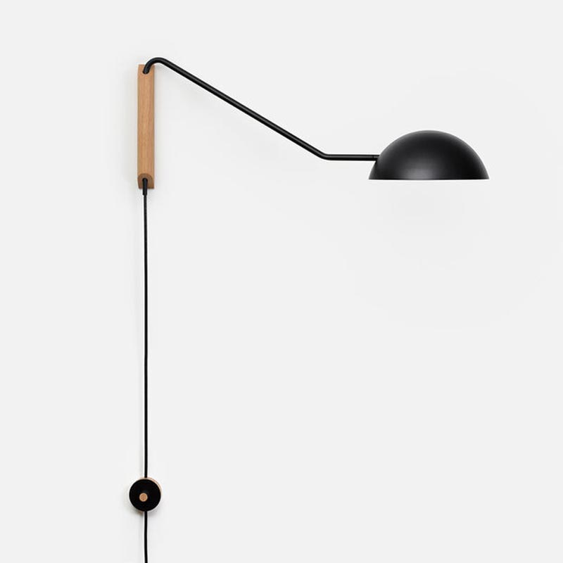 Swing Wall Lamp Swing Dome Wall Light By Andrew Neyer Sdl 30 Blk