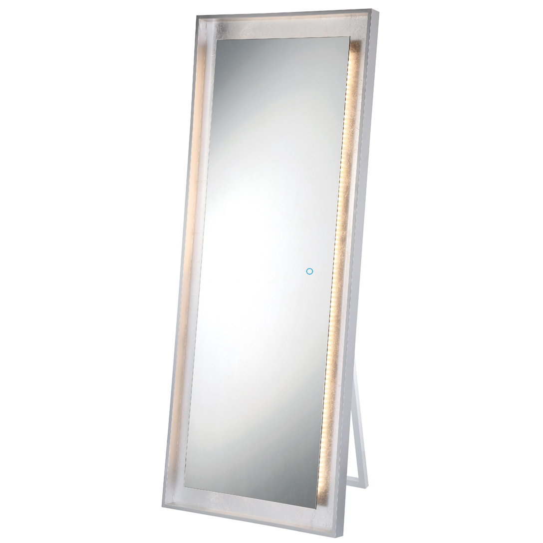 Standing Mirror Rectangle Edge Lit Led Standing Mirror By Eurofase 33834 016