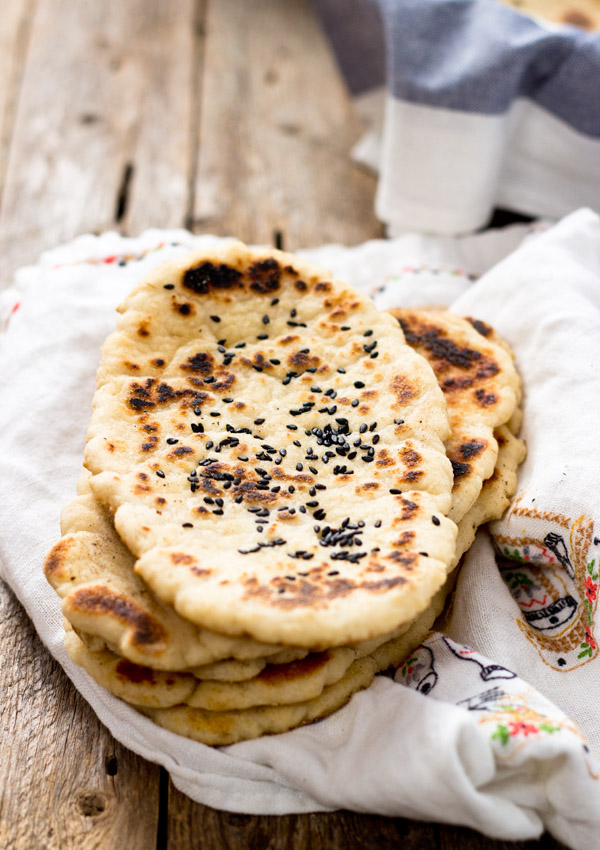 Gluten-Free Naan Bread Light Orange Bean