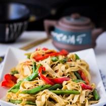 Chinese Tofu Noodles Stir-fry
