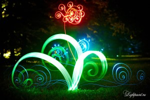 Light painting Fine art