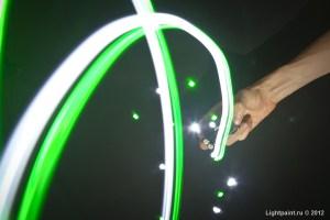 Зелёный и белый кластер