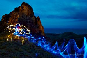 Light painting work Queen surf (королева прибоя)