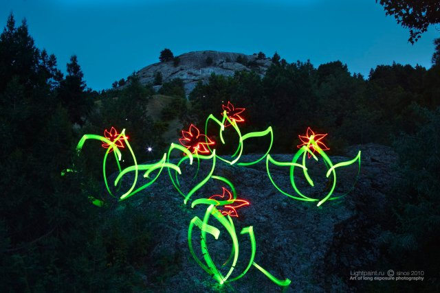 Lightpaint work - stone colors