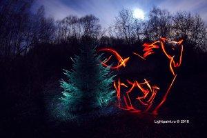 lightpaint horses