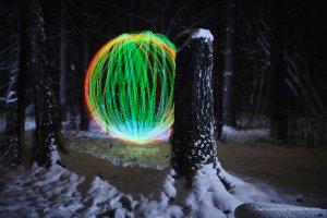 Light painting spin marker
