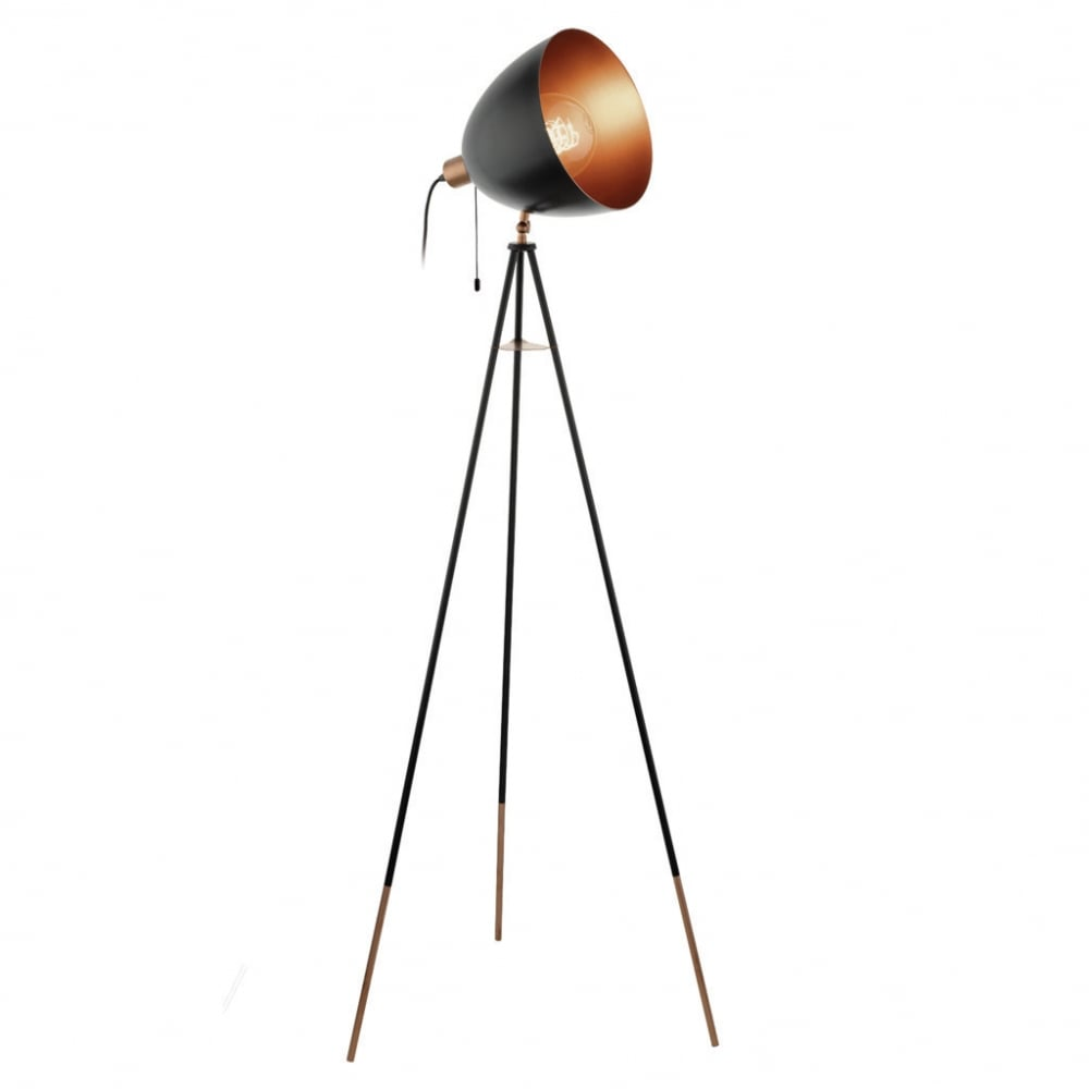 Stehlampe Schwarz Kupfer 49386 Chester Floor Lamp Black Copper