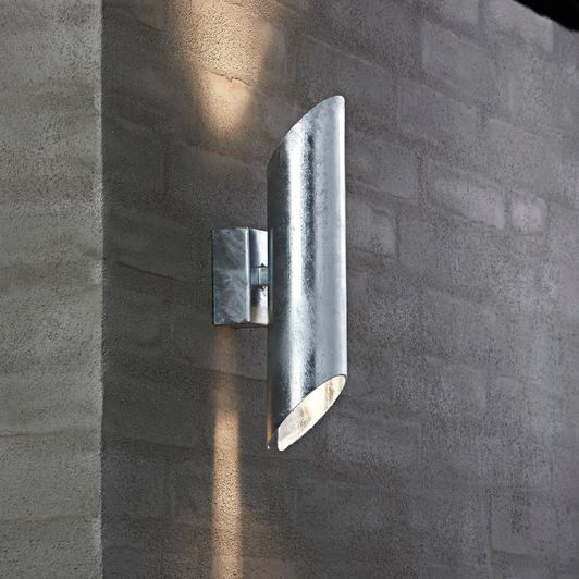 Gu10 Led Nordlux Pin Gu10 Outdoor Wall Light - Galvanised Steel