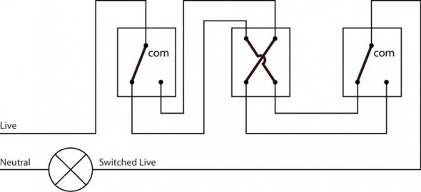 3 gang light switch diagram uk