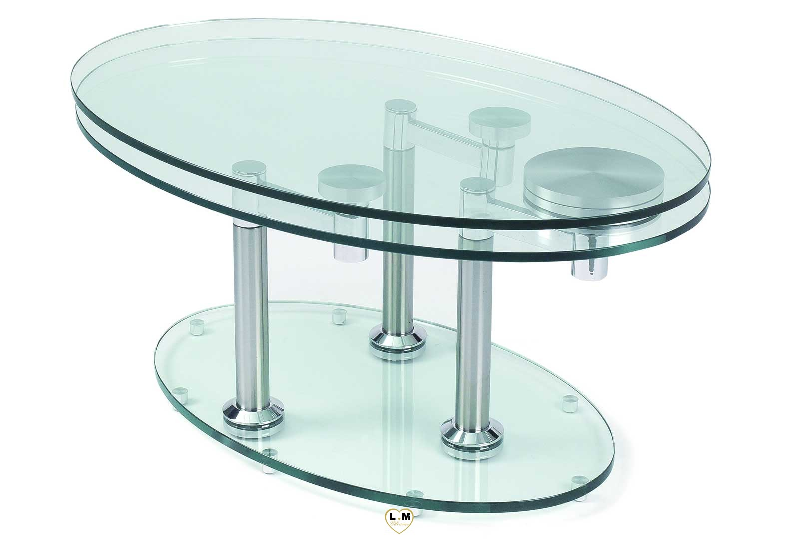 Table Basse Chrome Concorde Chrome Silver Table Basse Verre Articulee