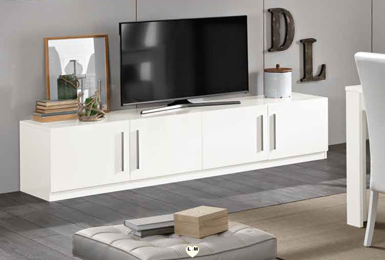 Meuble Long Meuble Tv Blanc Long