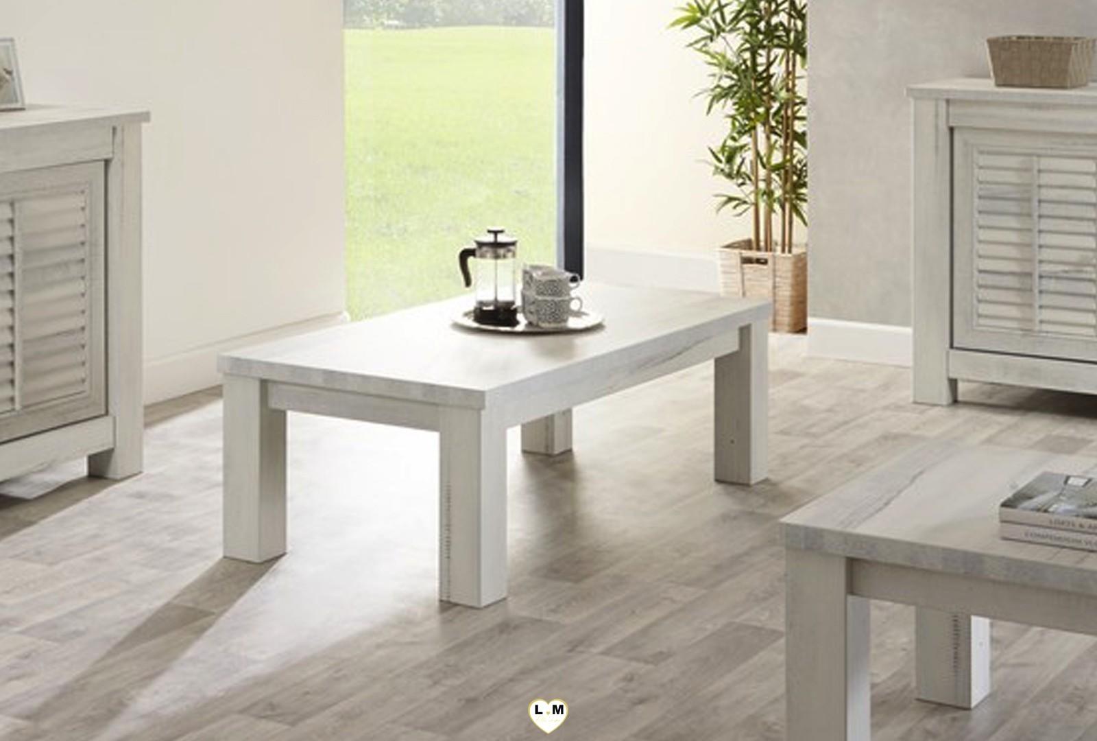 Table Bois Vieilli Blanc