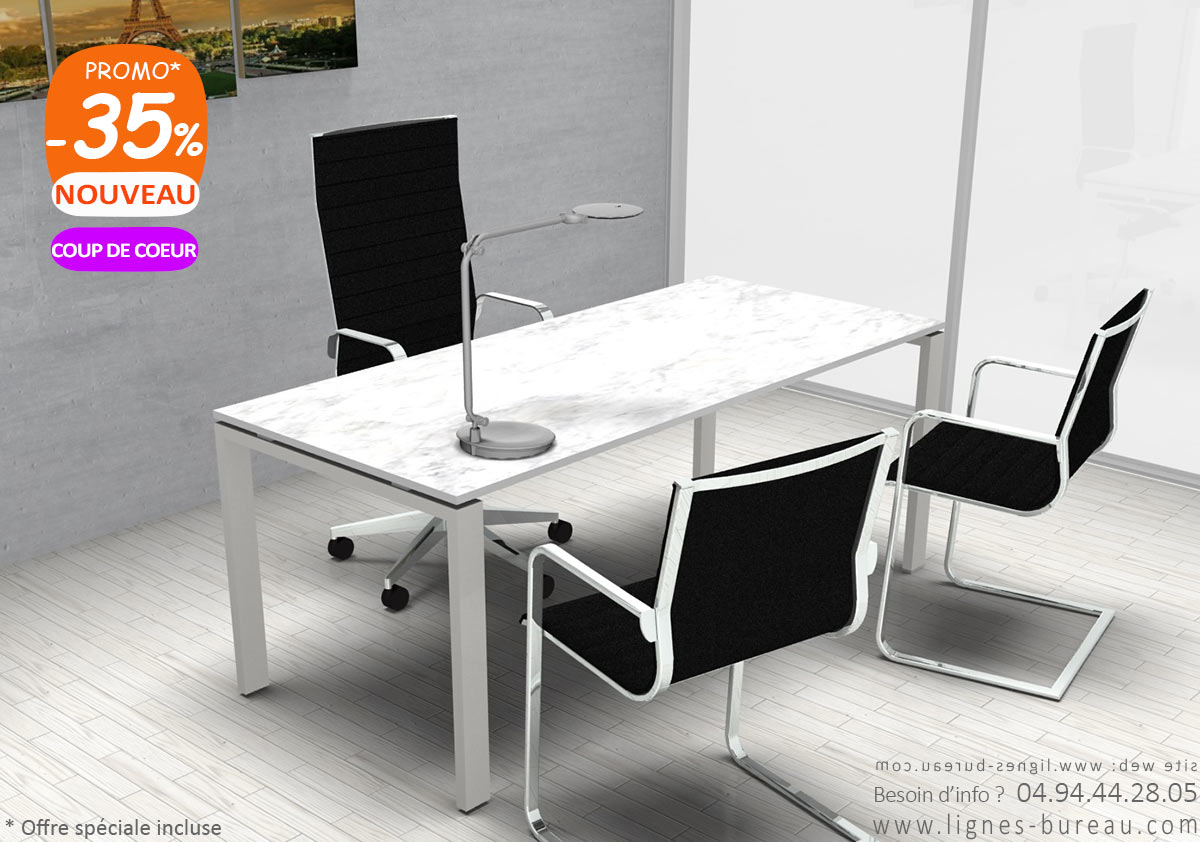 Bureau De Direction Design Blanc Bureau Direction Marbre Blanc Majestic En Promotion