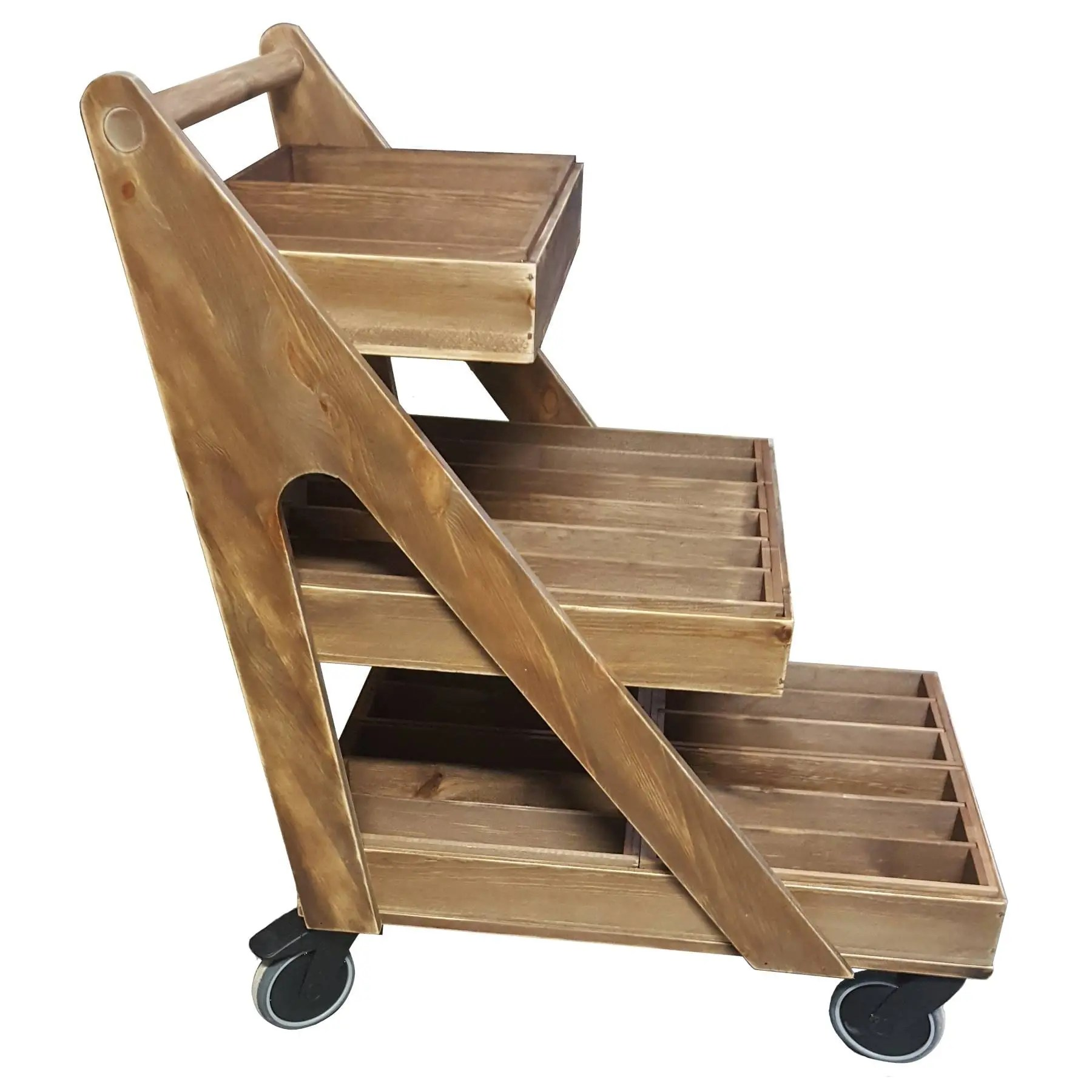 A Frame Trolley Rustic 3 Tier A Frame Trolley On Deluxe Wheels 850x560x900