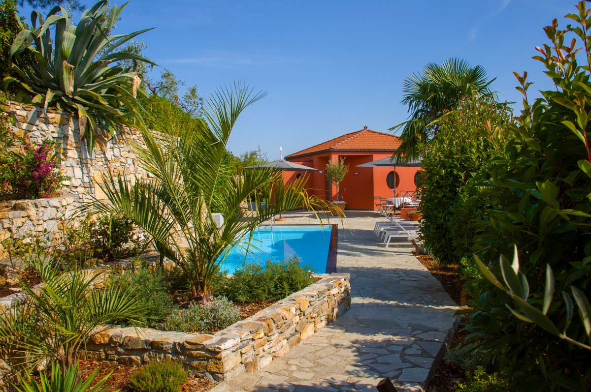 Pool Garten Casa Rossa, Holiday Home With Pool And Sea Views Holiday Home In Liguria With Sea View And Pool, Garden