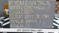 DIY Quote Wall Art | Likehearted