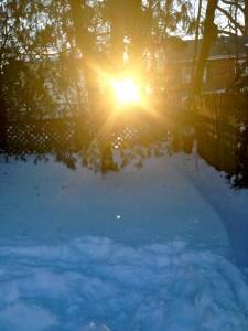 Snow Day Sunset