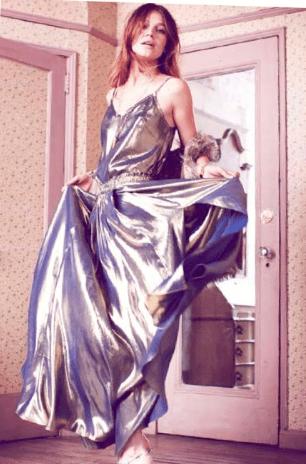 Fancy Slit Skirt in Indigo Gold