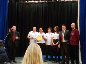 Staff of the Black Lion receive their award from Local MP's