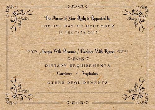 old fashioned wedding invitations Lila Hunnisett - invitation forms