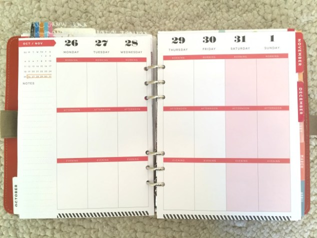 planner, planners, planner setup, week on two pages, the happy planner