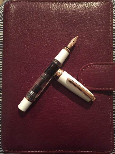 fountain pen, pens, Van der Spek custom burgundy, planner, planners