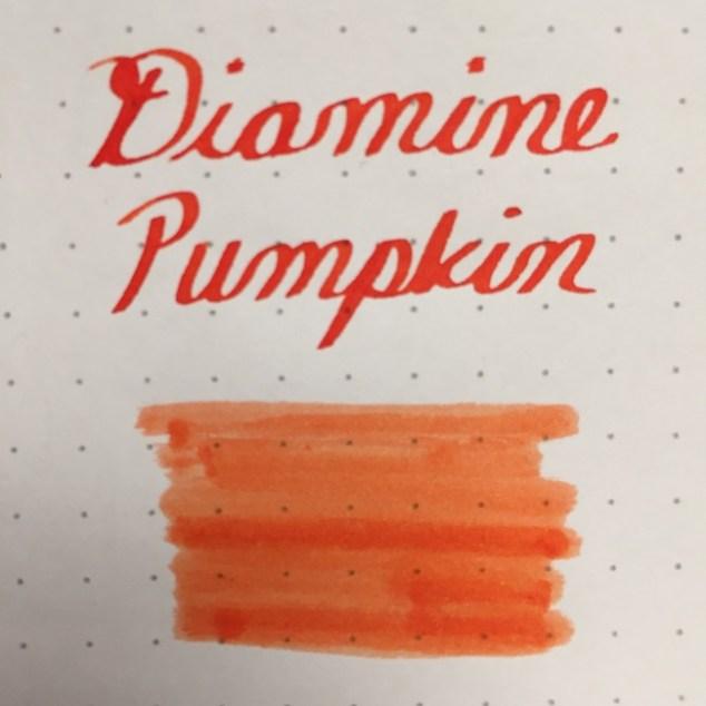 fountain pen, fountain pen inks, Diamine, diamine pumpkin, rhodia, dot grid, holiday, gift ideas