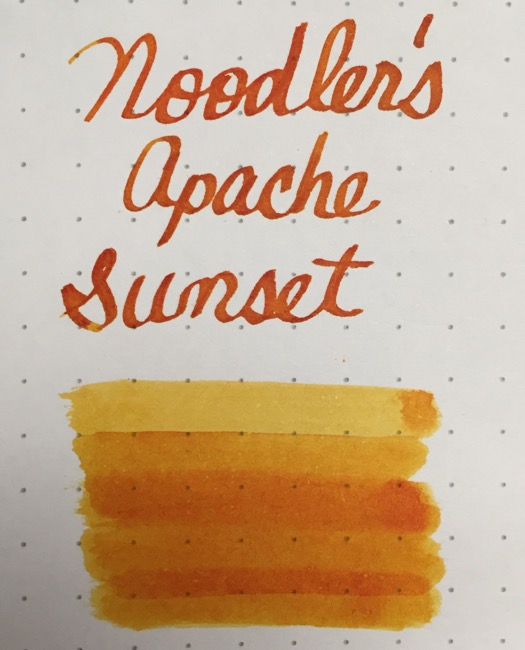 fountain pen, fountain pen inks, noodlers, apache sunset, rhodia, dot grid, holiday, gift ideas