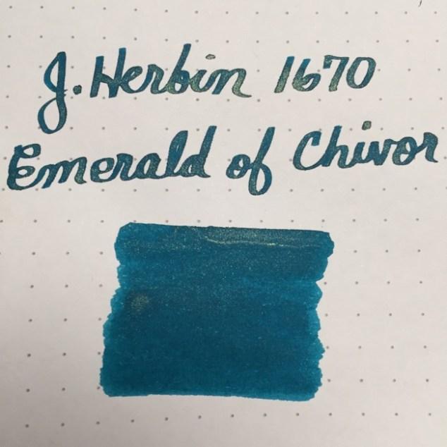 fountain pen, fountain pen inks, jherbin, j herbin, jherbin emerald of chivor, jherbin 1670 anniversary ink, rhodia, dot grid, holiday, gift ideas