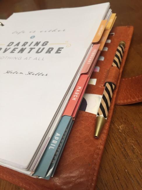 planner, binders, van der spek, vds, planner setup, inkwell press, monthly tabs, calendar inserts