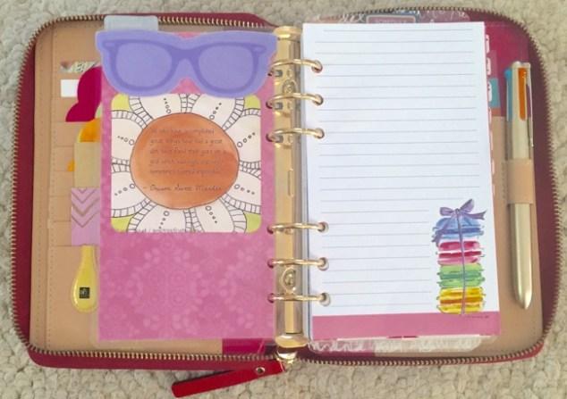 planner, planner setup, kate spade, wellesly, gold coleto pen, notes section